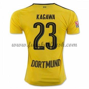 Bundesliga Fussball Trikots BVB Borussia Dortmund 2016-17 Kagawa 23 Heimtrikot Kurzarm
