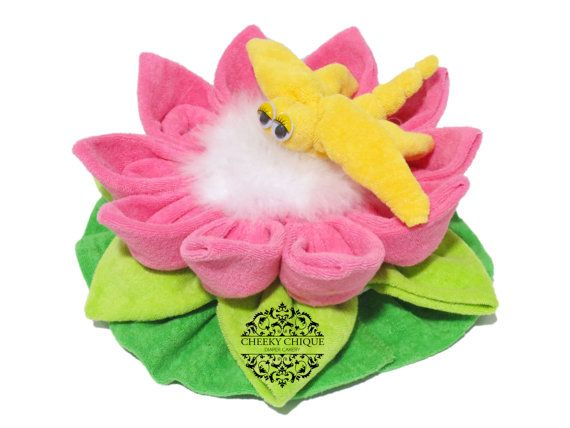 Washcloth Dragonfly and Lotus Flower by Cheeky Chique Baby Diaper Cakery