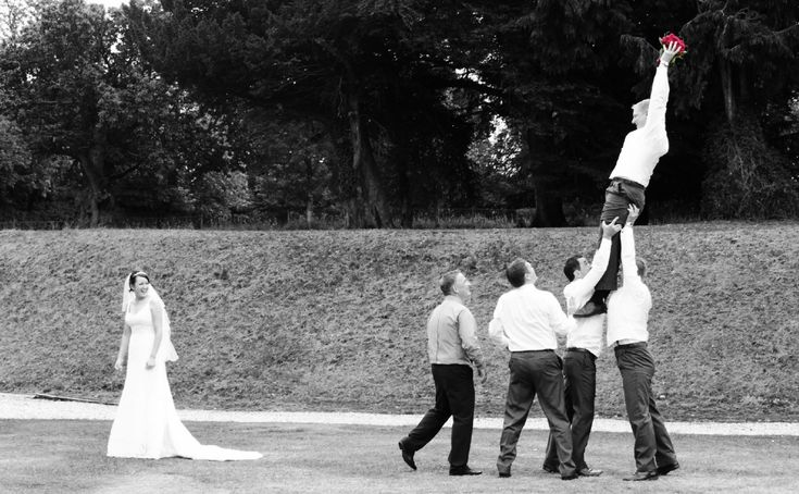 Wedding, Rugby shot, couple and ushers.  Amazing photography.  What a catch, visit www.timmartinphotography.co.uk