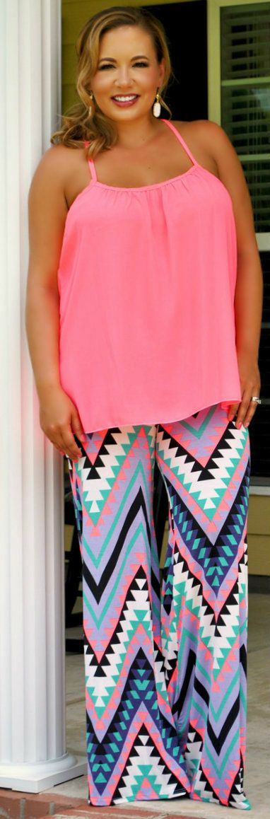 One of my favorite trends for summer is wearing palazzo pants! They are ridiculously popular, especially in the south! They are light weight and oh so colorful! We always have an abundance of palazzo's to choose from on the site and new ones are arriving every day! To be honest I can't pick any of them as my absolute favorite so I am featuring several different patterns for you today!Something about these pants just scream Mardi Gras to me. Maybe its the color, maybe it's the patt...