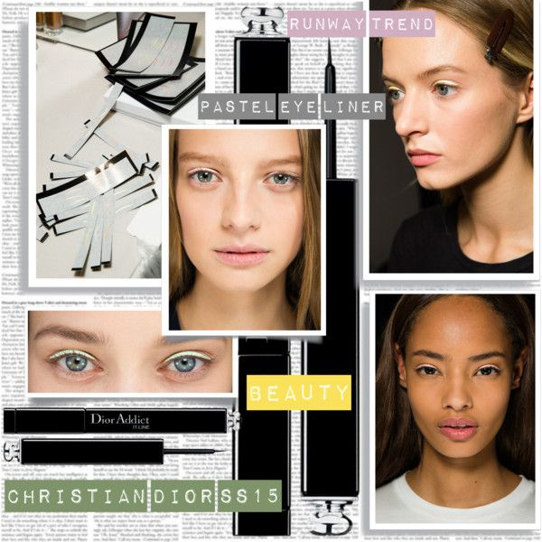 PFW SS15 Christian Dior Beauty Trend Pastel Eyeliner