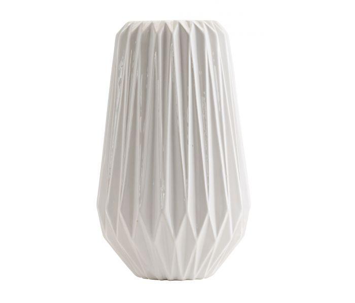 Prachtige witte vaas 'flower' Madam Stoltz #madamstoltz