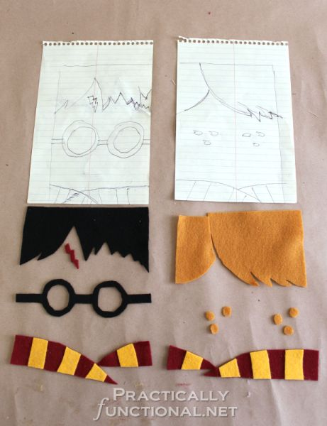 DIY Harry Potter Kindle Cover - Felt embellishments
