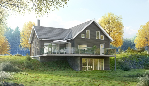 Scandinavia house by zZzstudio , via Behance