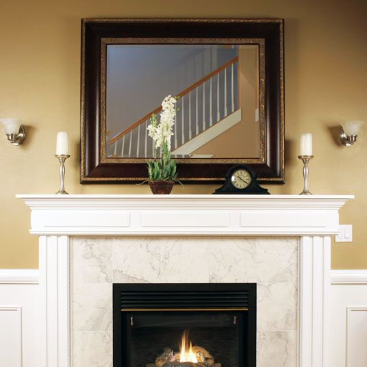 Fireplace mirrors can be custom sized according to the