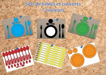 Ateliers de manipulation-mettre la table