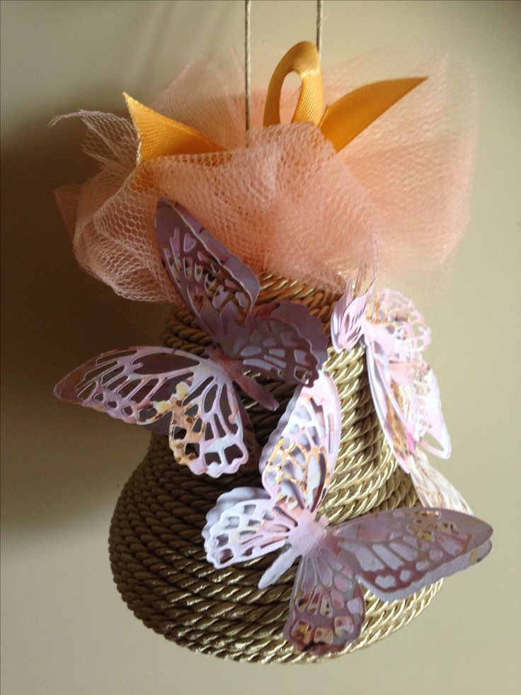 campana polistirolo decorata carta e nastri