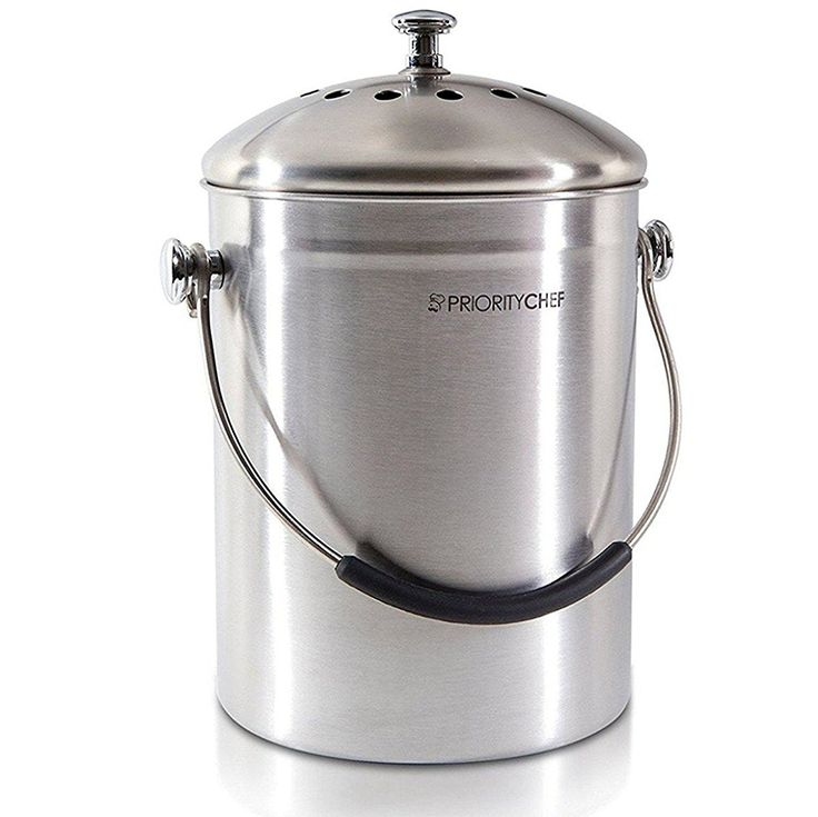 compost bin soft silicone handle stainless steel indoor compost pail for your kitchen ecofriendly compost countertop bin for food waste