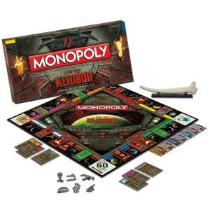 MONOPOLY: Star TrekTM KlingonTM Limited Edition (Individually Numbered) Only 1,701 games produced. 6 Collectible tokens. A one-of-a-kind mini replica of the Chancellor's Cane.