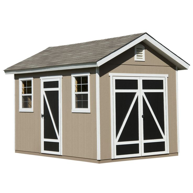 heartland hillsdale gable engineered wood storage shed common 8 ft x 12 - Garden Sheds 8 X 14