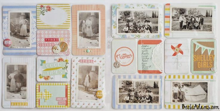 Becki Adams Designs: Restoring Old Photo Albums into Pocket Page Scrapbooks