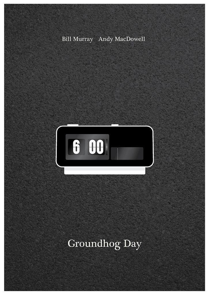 Groundhog Day (1993) ~ Minimal Movie Poster by David Marsh #amusementphile
