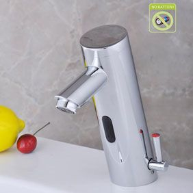 Contemporary Bathroom Sink Faucet with Hot and Cold Hydropower Automatic Sensor - T0106AP
