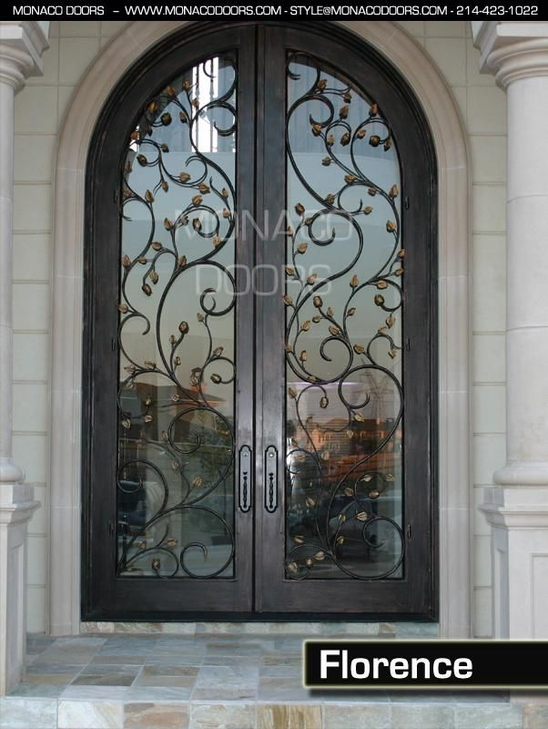 Inspirational Entry Doors with Glass and Wrought Iron