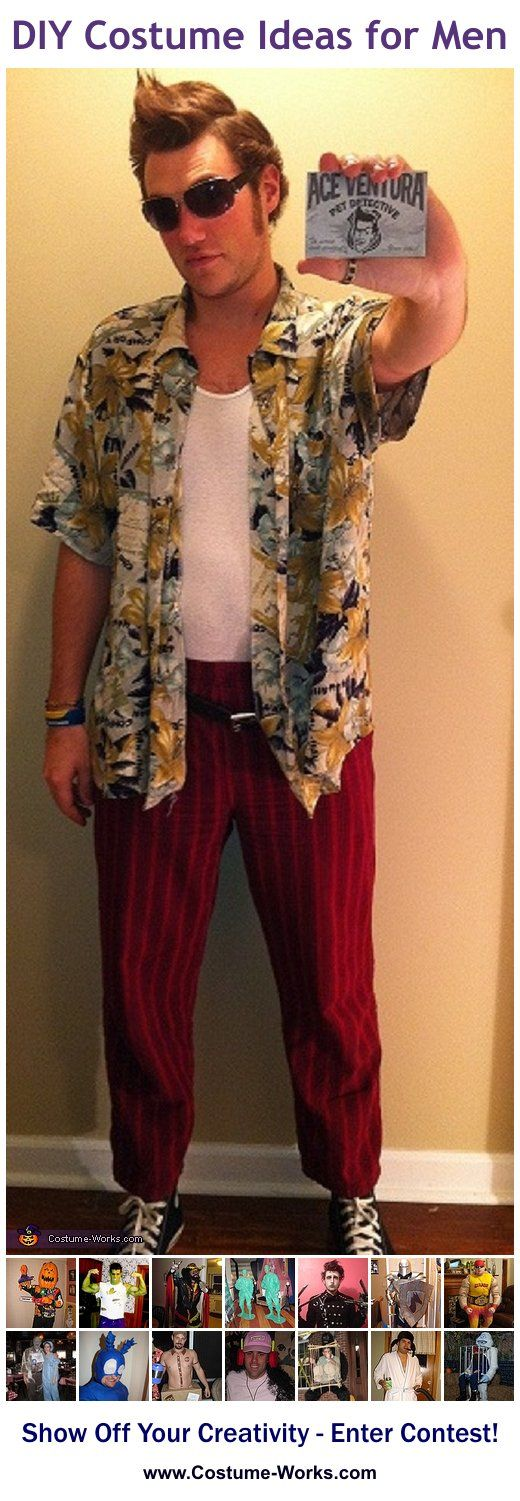 Ace Ventura - a lot of DIY costume ideas for men! I'm totally doing this!