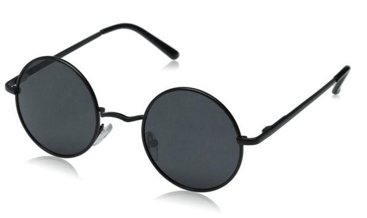 cc961445b9 Aoron Lennon Style Vintage Round Sunglasses with Polarized Lenses