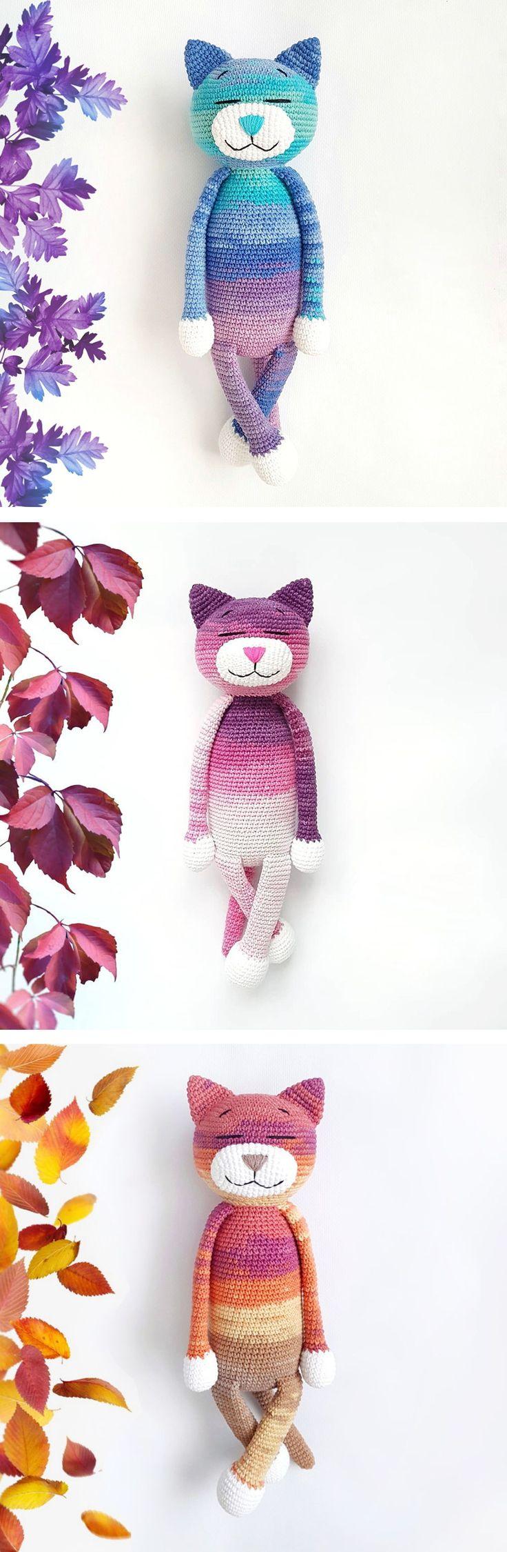 Cat crochet pattern by Amigurumi Today #free #crochet #amigurumi #pattern #amigu...