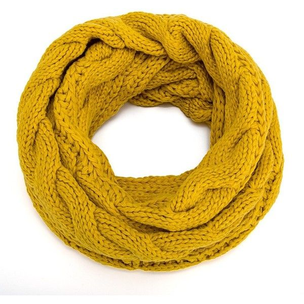 ALLMILL Womens Thick Ribbed Knit Winter Infinity Circle Loop Scarf ($11) ❤ liked on Polyvore featuring accessories, scarves, yellow infinity scarf, yellow shawl, infinity scarves, loop scarves and infinity scarf shawl