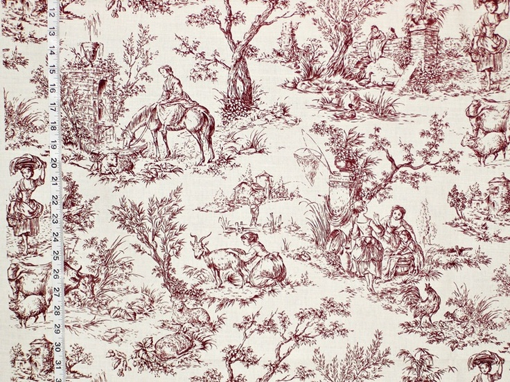 Best French Fabric Images On Pinterest French Fabric Toile - Country french fabric