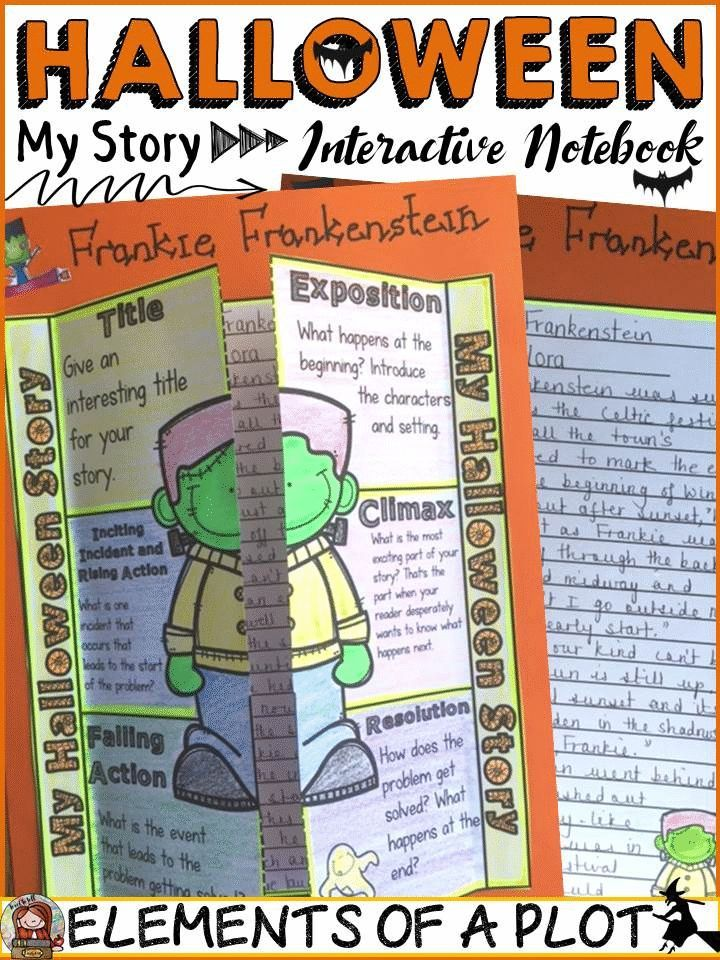 HALLOWEEN STORY WRITING: INTERACTIVE NOTEBOOK: ELEMENTS OF A PLOT Halloween is nearly here and your students perhaps are in a state of frenzied excitement, so use this moment to get your students to write creatively with this fun Halloween interactive resource. https://www.teacherspayteachers.com/Product/HALLOWEEN-STORY-WRITING-INTERACTIVE-NOTEBOOK-ELEMENTS-OF-A-PLOT-2173188