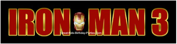 IRON MAN 3 Logo - Download this FREE Iron Man FONT and learn how to make this logo.  Make party invitations, party labels, stickers, name tags, water bottle labels and lots more for your next Iron Man party.