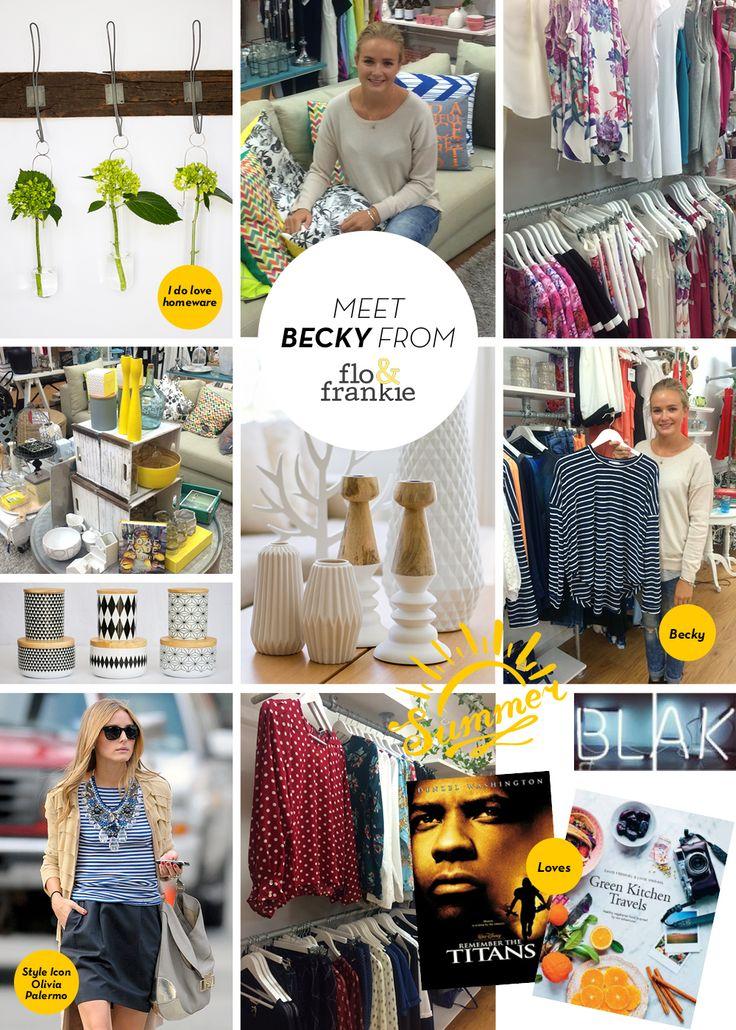 Shop Highlight - Meet Becky @floandfrankie