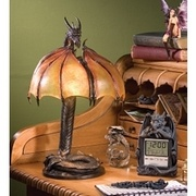 Dragon Strike Illuminated Sculpture - Medieval Home Decor - Medieval & Gothic - Design Toscano  So cool