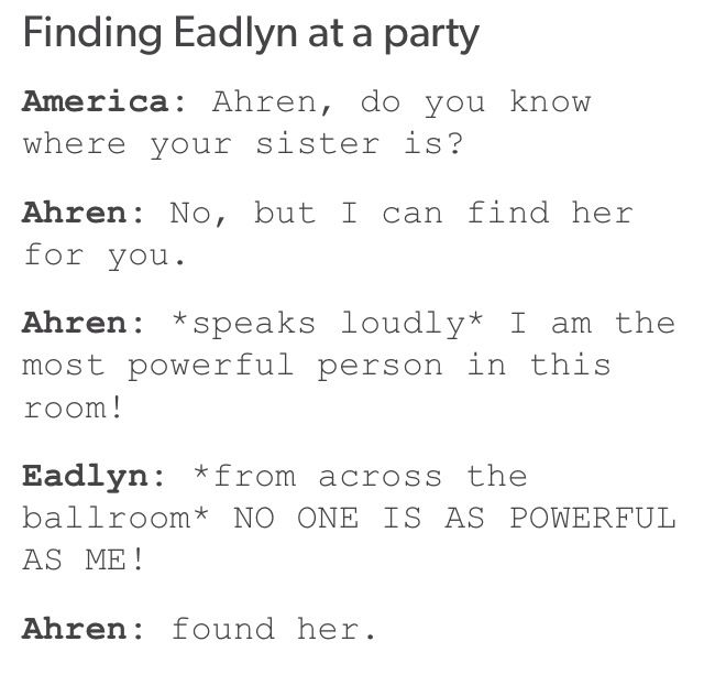Finding Eadlyn at a party