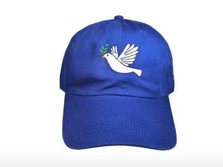 Navy and White Dove Emoji Sorority Dad Hat