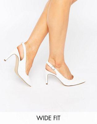 New Look - Chaussures pointure large à talons avec bride arrière