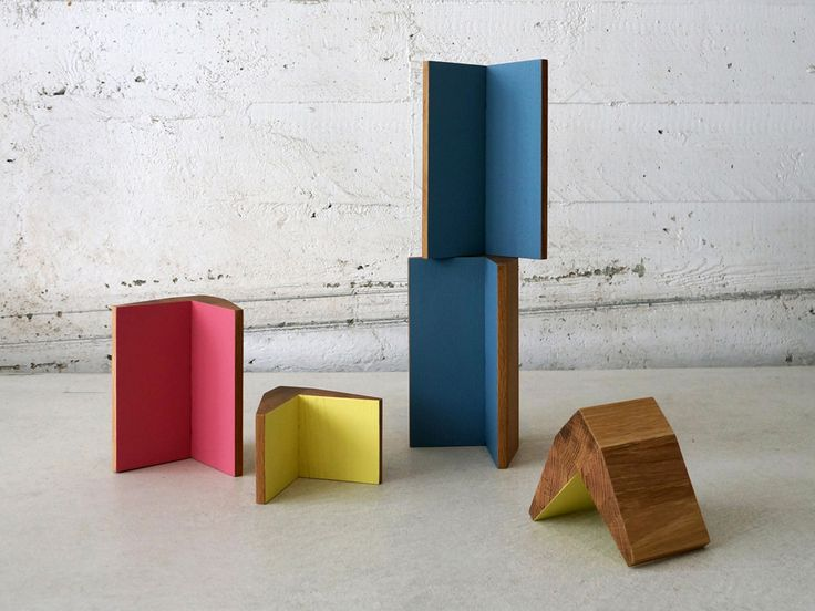 V Tower accessory by Studio Brovhn. 3 sizes. Solid oak. Lacquer and natural stained finishes. www.studiobrovhn.com #studiobrovhn #wood #accessory