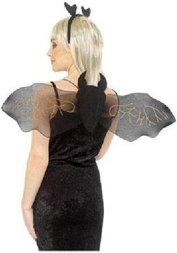 Set Pipistrello per travestimento, ali e cerchietto. Per halloween, festa a tema Batman e carnevale. Disponibile da C&C Creations Store