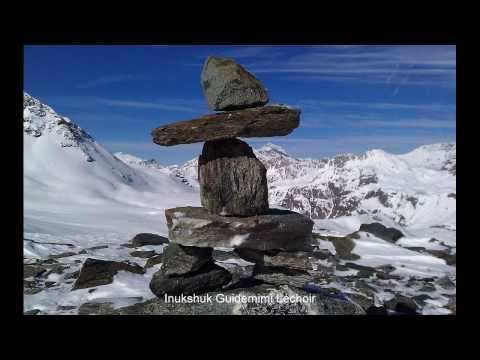 Inukshuk YouTube video showing different pictures of inukshuit set to peaceful music.