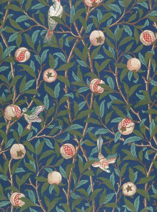 Bird and Pomegranate wallpaper, by William Morris