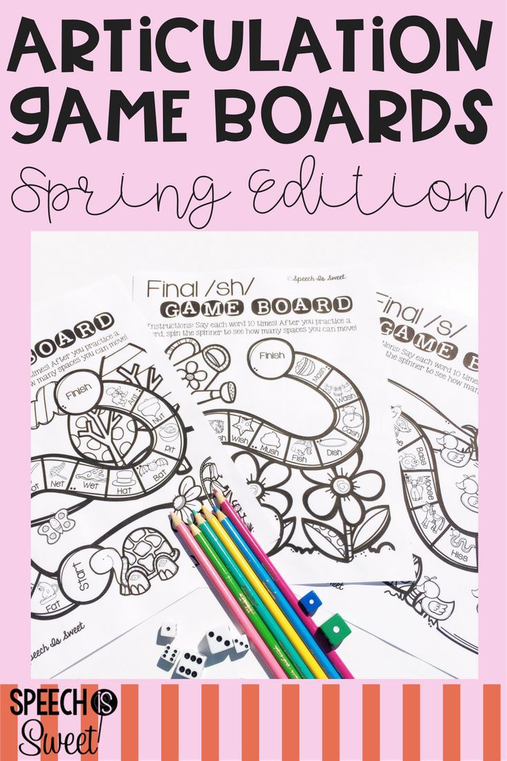 Coloring activities speech therapy - April Articulation Game Boards Print And Go Articulation Gamesspeech Therapy Activitiesgame