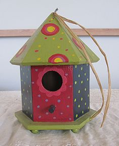 painted birdhouse