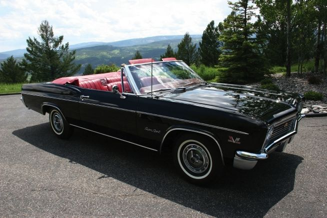 1966 chevrolet impala ss 427 convertible 1960s american cars pin. Black Bedroom Furniture Sets. Home Design Ideas