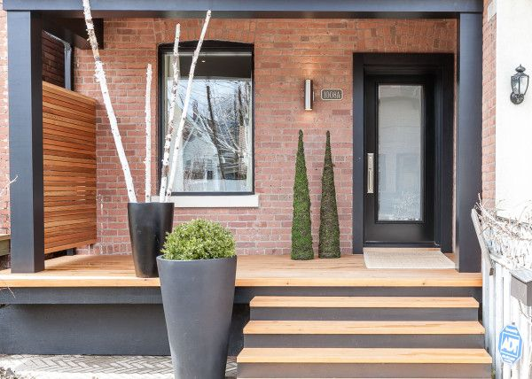 25 best ideas about modern front porches on pinterest for Modern portico designs
