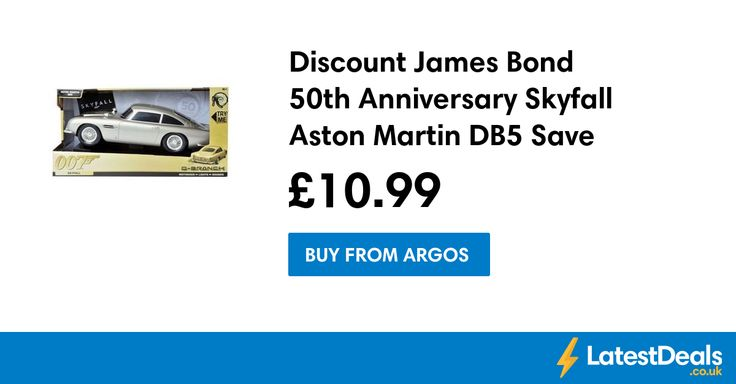 Discount James Bond 50th Anniversary Skyfall Aston Martin DB5 Save £17, £10.99 at Argos