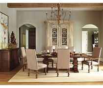 burnished brown gaylon dining room chair view 3
