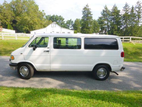 1995 Dodge 3500 1 Ton Heavy Duty Passenger or Cargo Ram Van NO RESERVE, image 1