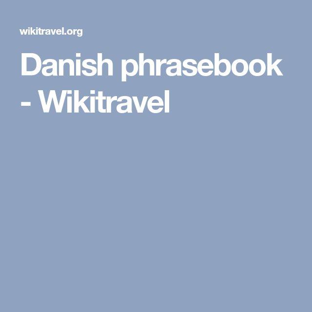 Danish phrasebook - Wikitravel
