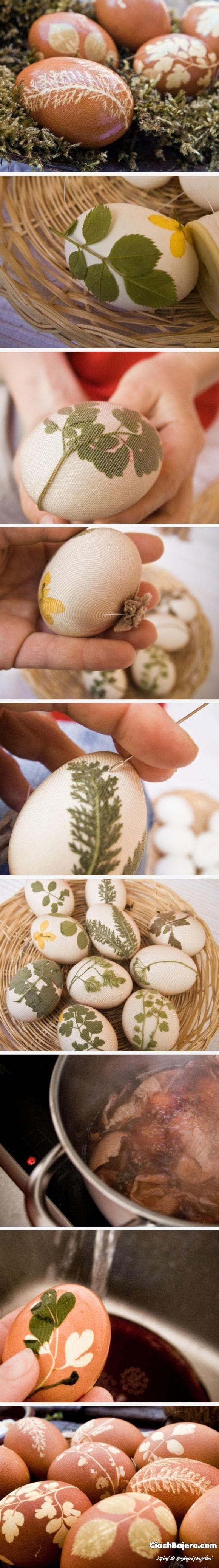 Sposób dekoracji jaj Wielkanocnych