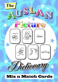 """""""The Auslan Picture Dictionary - Mix and Match Cards e-book"""" $35 An excellent Blackline Masters resource - children learning Auslan mixes the cards and matches the Auslan signs with their pictures AND English word! Great for Deaf kids too as it will increase their vocabulary skills."""