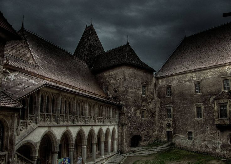 Hunedoara Castle, also known as Corvin's Castle or Hunyadi Castle. A 14th century gothic style castle. Vlad Dracul, father of Vlad Tepes or Dracula, was imprisoned at this castle for several years.