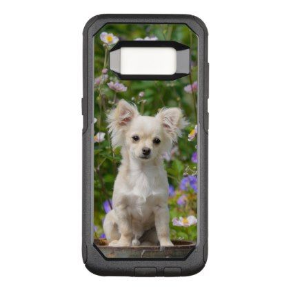 #Cute longhair cream Chihuahua Dog Puppy Pet Photo OtterBox Commuter Samsung Galaxy S8 Case - #chihuahua #puppy #dog #dogs #pet #pets #cute