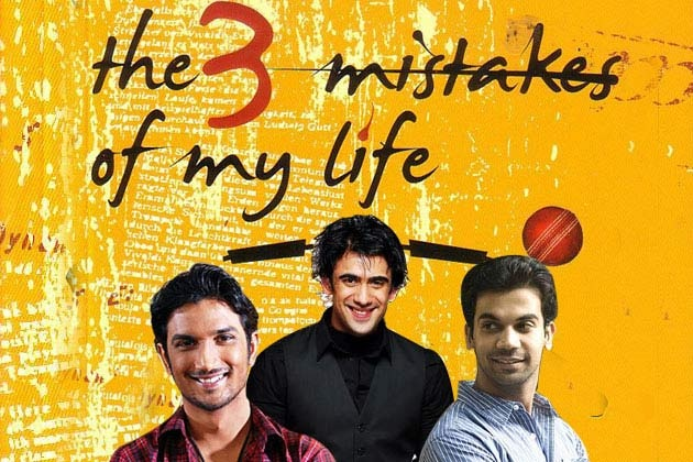 Kai Po Che! is an upcoming film based on Chetan Bhagat's novel The 3 Mistakes of My Life directed by Abhishek Kapoor.