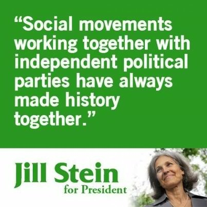 Dr. Jill Stein is the Green Party's presumptive presidential nominee.