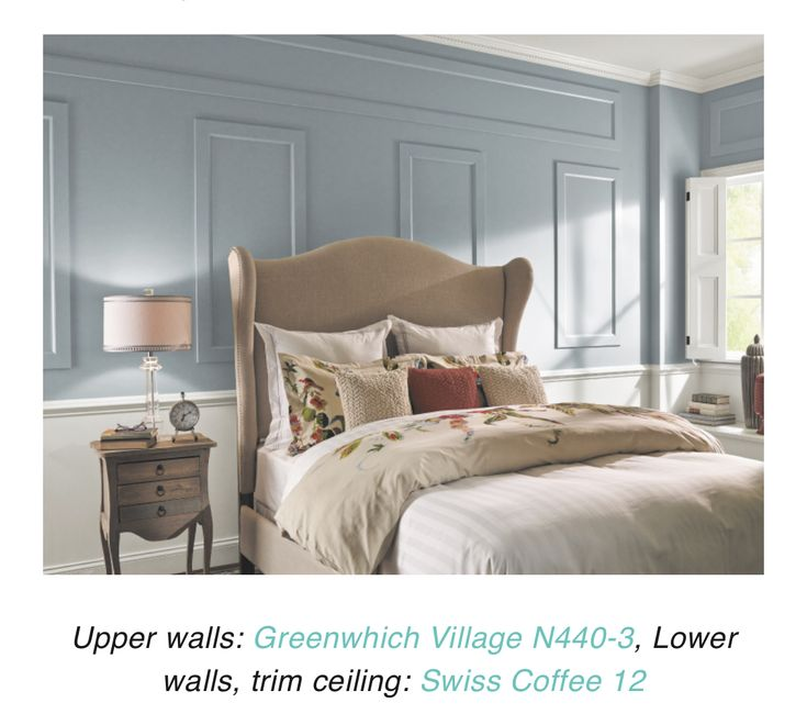 Behr greenwich village paint color with swiss coffee trim
