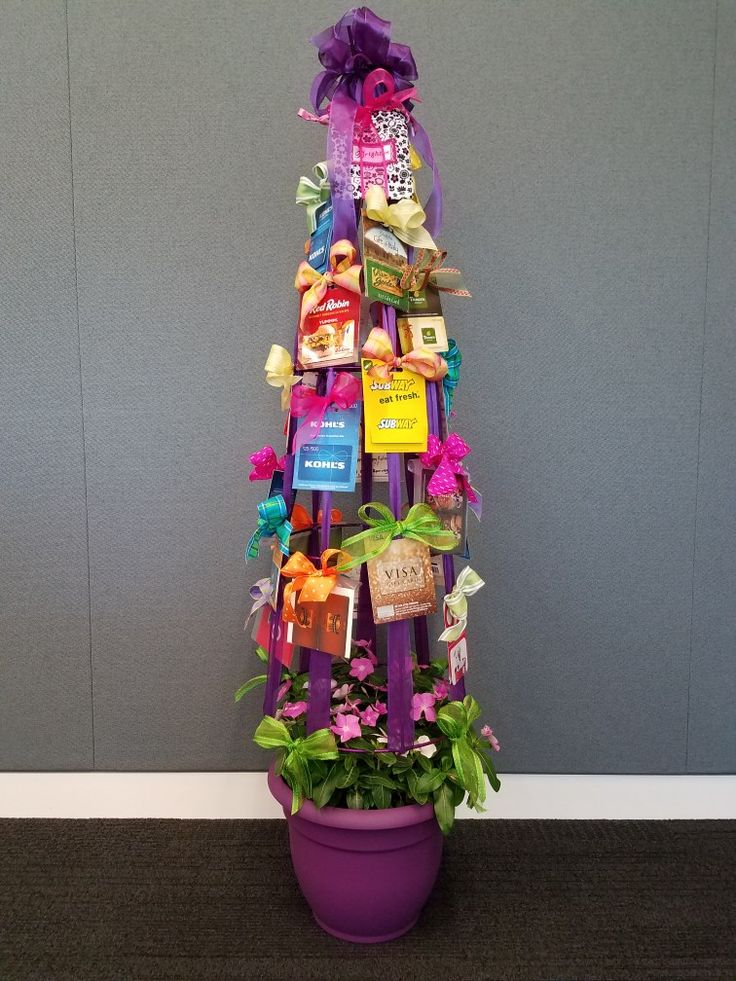 I created this gift card tree as a retirement gift for a